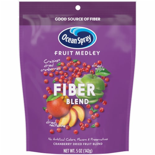 Ocean Spray Fruit Medley Fiber Blend Cranberry Dried Fruit Blend Perspective: front