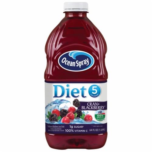 Ocean Spray Diet Cran-Blackberry Juice Drink Perspective: front