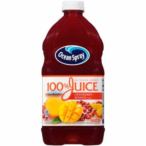 Ocean Spray No Sugar Added 100% Cranberry-Mango Juice Perspective: front