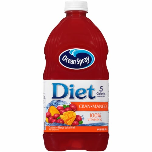 Ocean Spray Diet Cran-Mango Juice Drink Perspective: front