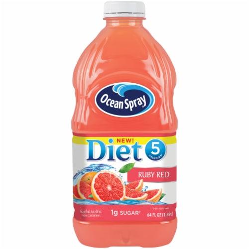 Ocean Spray Diet Ruby Red Grapefruit Juice Drink Perspective: front