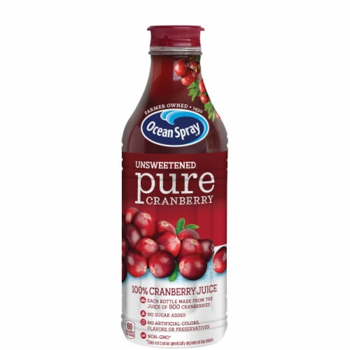 Ocean Spray Unsweetened Pure Cranberry Juice Perspective: front