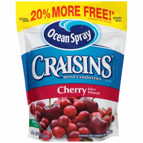 Ocean Spray Cherry Craisins Perspective: front