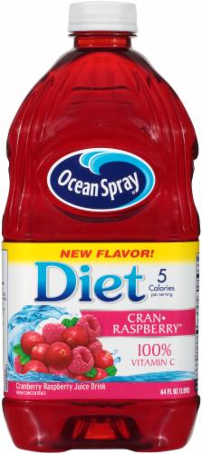 Ocean Spray Diet Cran-Raspberry Juice Drink Perspective: front