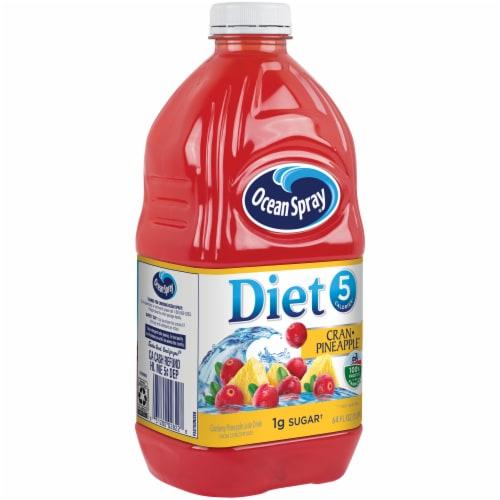 Ocean Spray Diet Cran-Pineapple Juice Drink Perspective: front