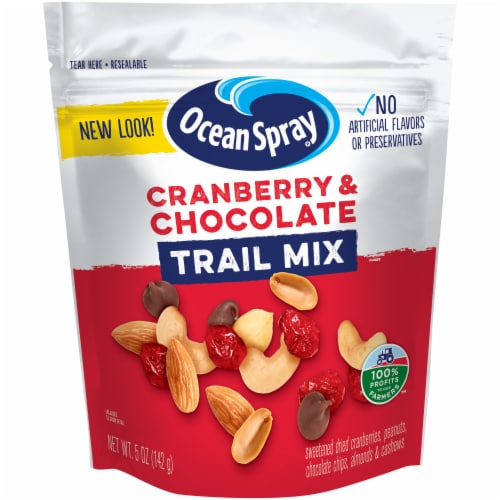 Ocean Spray Craisins Cranberry & Chocolate Trail Mix Perspective: front