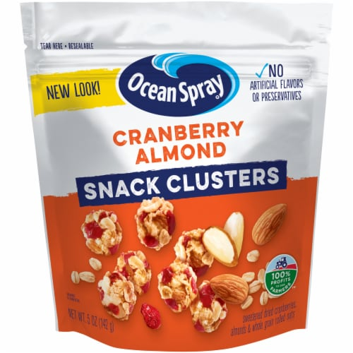 Ocean Spray Cranberry Almond Fruit Clusters Perspective: front