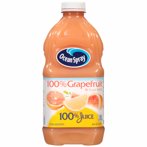 Ocean Spray No Sugar Added 100% Grapefruit Juice Perspective: front
