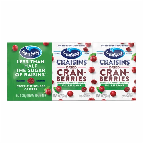 Ocean Spray Craisins Reduced Sugar Dried Cranberries Perspective: front