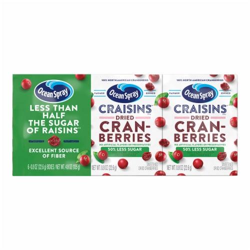 Ocean Spray Craisins 50% Less Sugar Dried Cranberries Perspective: front