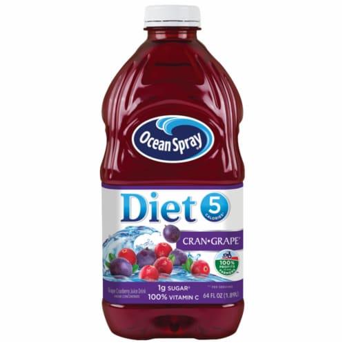 Ocean Spray Diet Cran-Grape Juice Drink Perspective: front