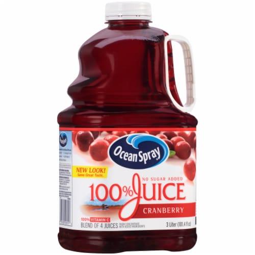 Ocean Spray 100% Cranberry Juice Perspective: front