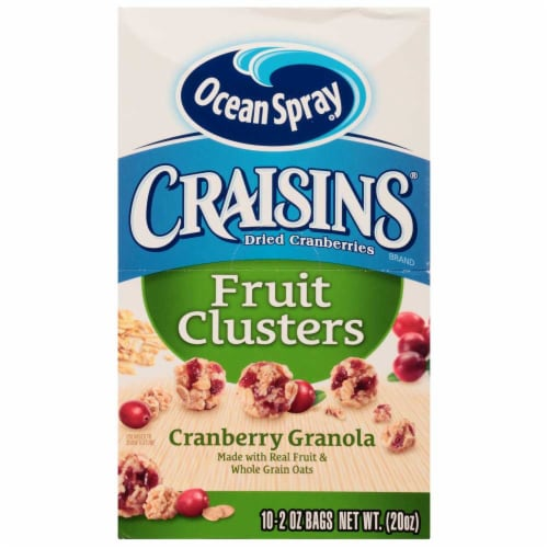 Ocean Spray Craisins Cranberry Granola Fruit Cluster, 2 Ounce -- 40 per case. Perspective: front