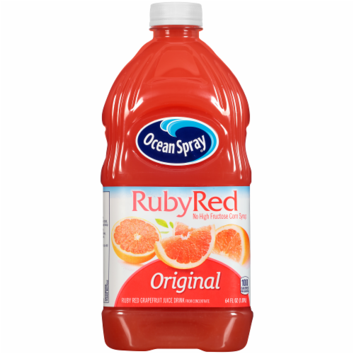 Ocean Spray Original Ruby Red Grapefruit Juice Drink Perspective: front
