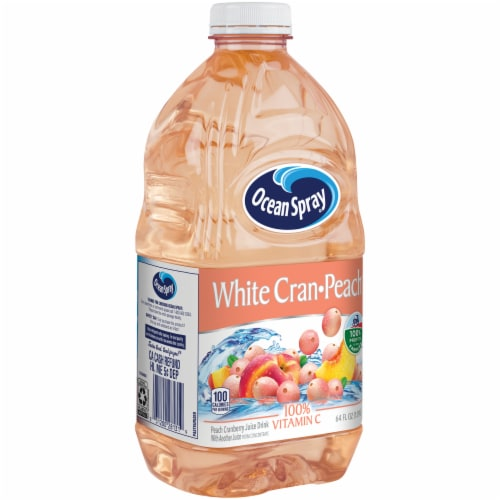 Ocean Spray White Cran-Peach Juice Drink Perspective: front