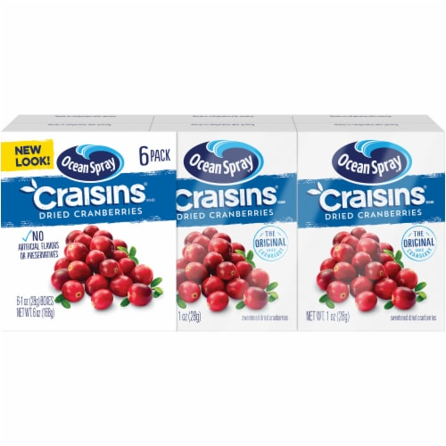 Ocean Spray Original Craisins Gluten Free Snack Packs Perspective: front