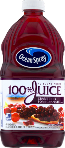 Ocean Spray 100% Cranberry Pomegranate Juice Perspective: front