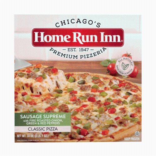 Home Run Inn Classic Sausage Supreme Frozen Pizza Perspective: front