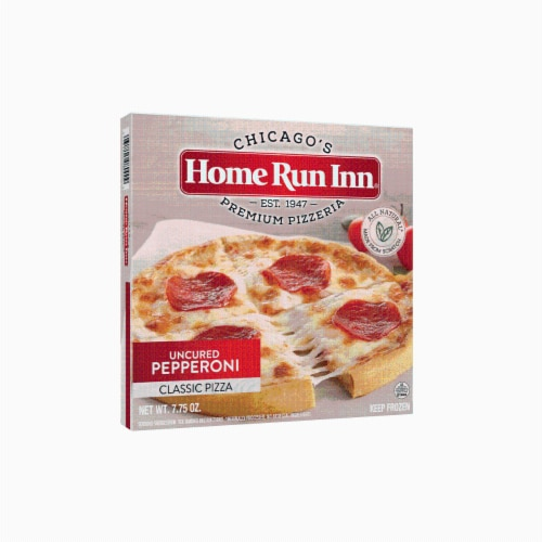 Home Run Inn Uncured Pepperoni Classic Pizza Perspective: front
