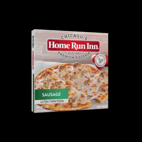 """Home Run Inn 6"""" Ultra Thin Sausage Pizza Perspective: front"""