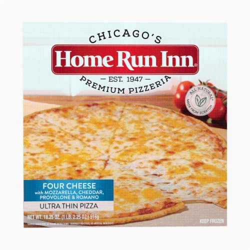 Home Run Inn Ultra Thin Four Cheese Pizza Perspective: front