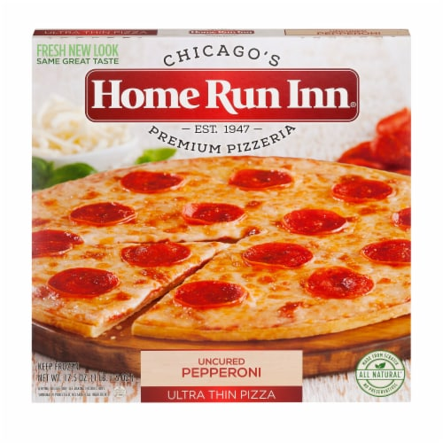 Home Run Inn Ultra Thin Uncured Pepperoni Pizza Perspective: front