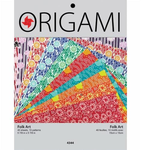 Yasutomo Folk Art Origami Paper - 40 Sheets Perspective: front