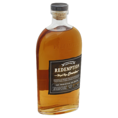 Redemption High Rye Bourbon Whiskey Perspective: front