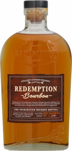 Redemption Bourbon Whiskey Perspective: front