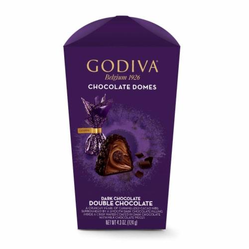 Godiva Dark Chocolate Double Chocolate Domes Perspective: front