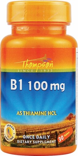 Thompson  B1 Tablets 100 mg Perspective: front