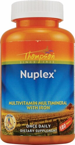 Thompson  Nuplex® Multivitamin with Iron Perspective: front