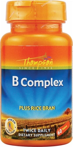 Thompson  B Complex plus Rice Bran Tablets Perspective: front
