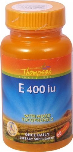 Thompson  Vitamin E with Mixed Tocopherols Softgels Perspective: front