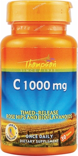 Thompson  C Plus Rose Hips and Bioflavonoids Tablets Perspective: front