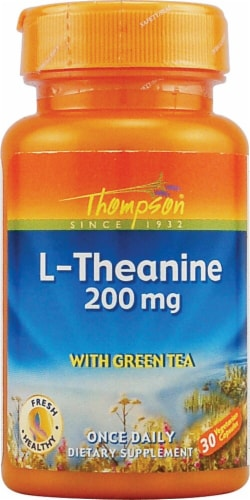 Thompson  L-Theanine  Capsules 200 mg Perspective: front