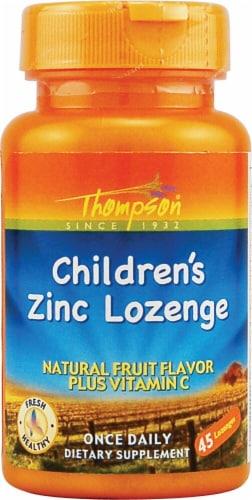 Thompson Children's Zinc Fruit Flavor Lozenges 45 Count Perspective: front