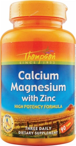 Thompson  Calcium Magnesium with Zinc High Potency Formula Perspective: front
