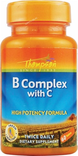 Thompson  B Complex with C Tablets Perspective: front