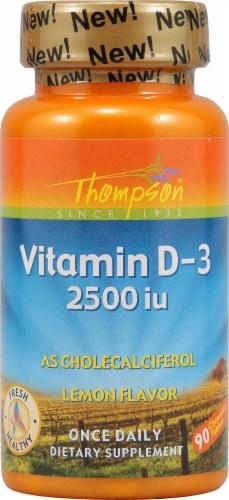 Thompson  Vitamin D-3   Lemon Chewable Tablets Perspective: front