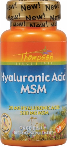 Thompson  Hyaluronic Acid Plus MSM Perspective: front