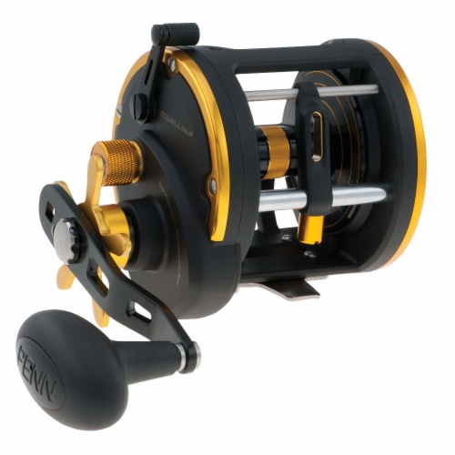 Penn SQL30LW Squall Levelwind Saltwater Fish Trolling Fishing Reel, Black & Gold Perspective: front