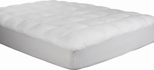 Carpenter Home Beyond Down® Synthetic Down Mattress Pad - White Perspective: front
