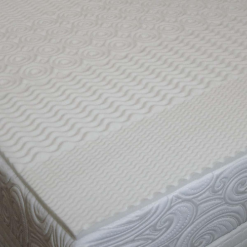 Carpenter Home Isotonic® 5-Zone Conventional Foam Mattress Topper - White Perspective: front