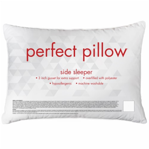 Sleep Better Side Sleeper Perfect Pillow Perspective: front