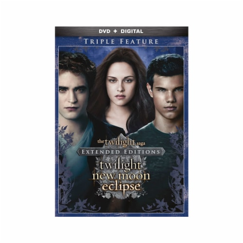 The Twilight Saga Triple Feature Extended Editions (DVD + Digital Copy) Perspective: front
