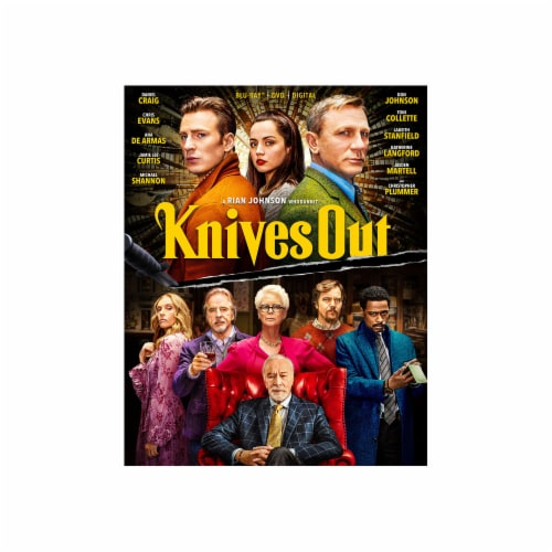 Knives Out (2019 - Blu-Ray/DVD/Digital Code) Perspective: front