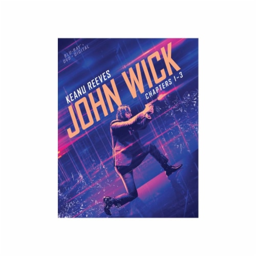 John Wick: Chapters 1-3 (Blu-ray + DVD + Digital) Perspective: front