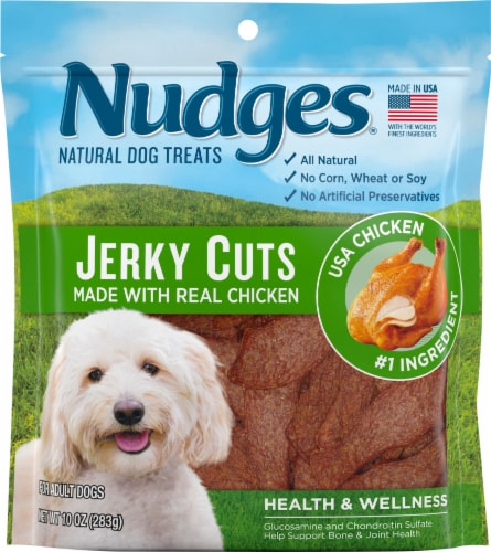 Nudges Natural Jerky Cuts Chicken Dog Treats Perspective: front