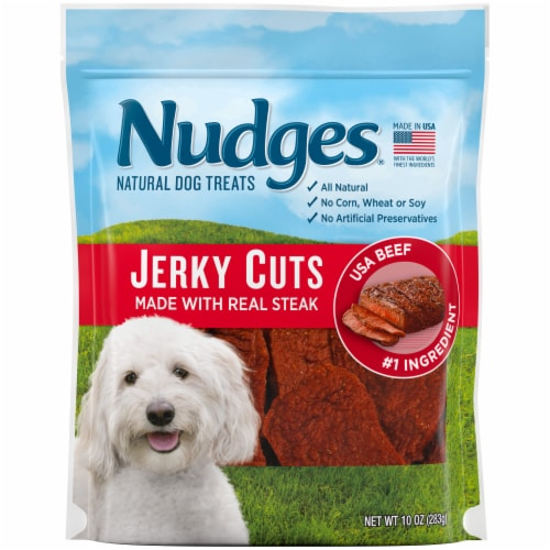 Nudges Jerky Cuts Natural Beef Dog Treats Perspective: front